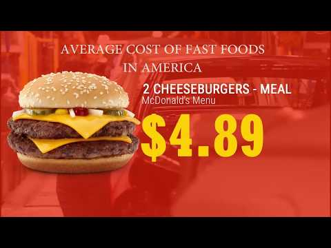 average cost of fast foods in america