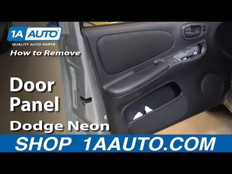 How To Install Replace Remove Door Panel 00-05 Dodge Plymouth Neon 1AAuto.com