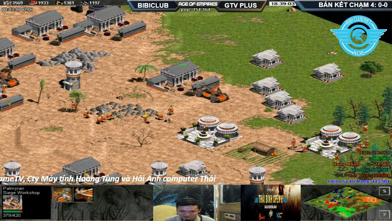 AOE Thái Bình Open 6 | 3vs3 DeathMatch | Bán Kết BiBi Clud  vs GameTV Plus .BLV: Xuân Tóc Đỏ