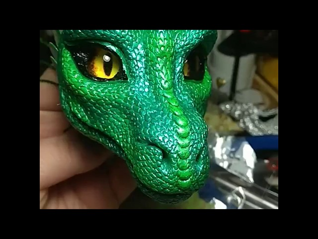 Голова для будущей куклы дракона