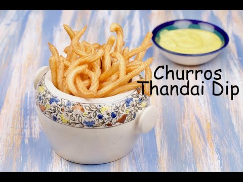 Churros with Thandai