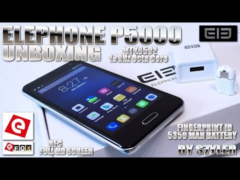 Elephone P5000 [UNBOXING] NFC, FHD, 2GB RAM, 5350 mAh & Quick Charge, MTK6592 Octa Core 1.7GHz