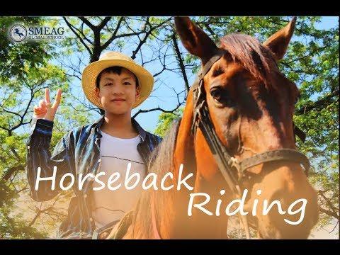 [Learning English] English Academy in Cebu, Philippines:  Horseback Riding