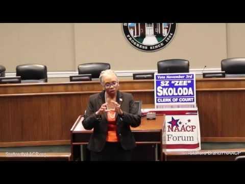 "Stafford, Virginia Clerk of the Court Candidate Forum (R) Kathy M. Sterne (D) S.Z. ""Zee"" Skoloda"