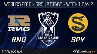 RNG vs SPY - World Championship 2016 - Group Stage Week 1 Day 2