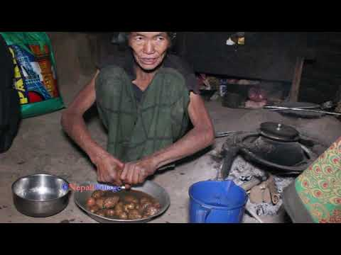 Cooking Rice Of Paddy And Curry Of Potatoes Ll Primitive Technology Ll Rural Life