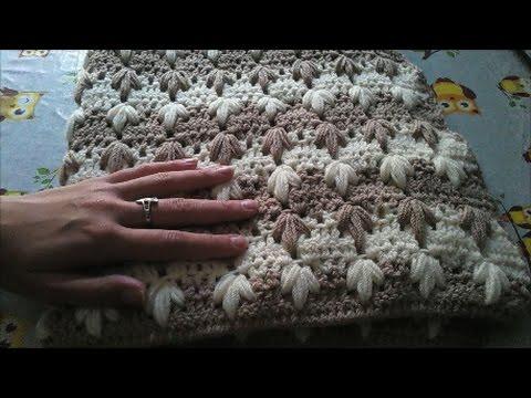 uncinetto - copertina bicolore per neonato