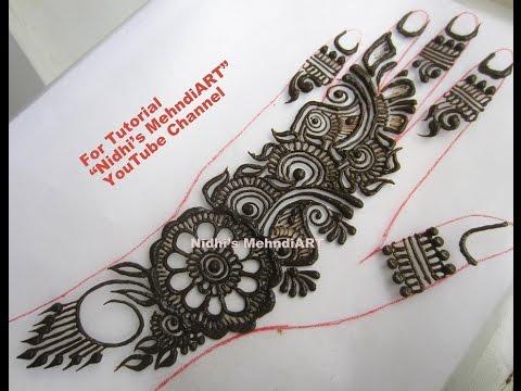 Video Trendy Arabic Henna Mehndi Design Tutorial for Beginners download in MP3, 3GP, MP4, WEBM, AVI, FLV January 2017