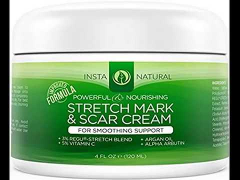 InstaNatural Stretch Mark & Scar Cream - Formula for Scar Removal & Prevention for Men & Women