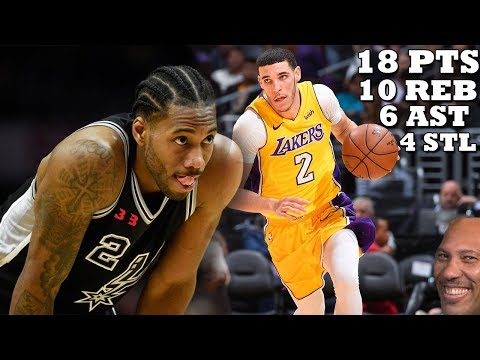 Lonzo Ball DESTROYS Kawhi Leonard-less Spurs!! Lakers vs Spurs