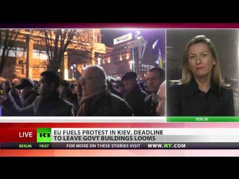 vote - Fueling the public protest in Ukraine yet again - a delegation of Euro-MPs has spoken to the crowds in Kiev. The protesters have 4 days to decamp from govern...