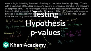 Hypothesis testing and p-values | Inferential statistics | Probability and Statistics | Khan Academy