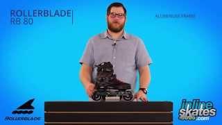 Видео обзор роликов Rollerblade RB 80 (англ.)