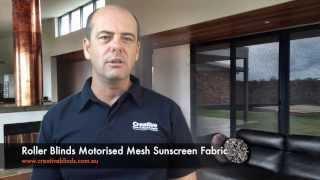 Motorised Sunscreen Roller Blinds Ballina Lismore Byron Bay