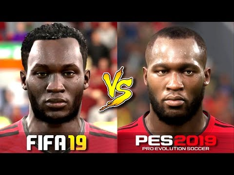 FIFA 19 Vs. PES 2019 | Player Faces | Liverpool & Manchester United | Gameplay Comparison