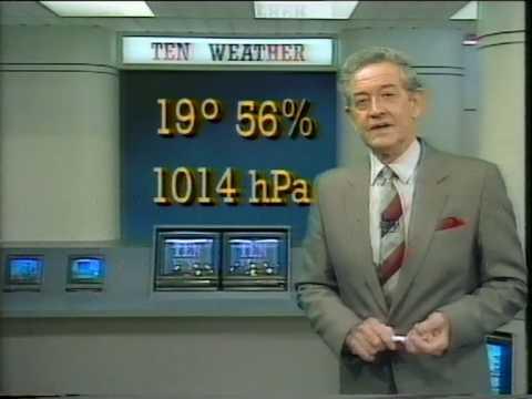 TVQ 10 Ray Wilkie Weather Ten News 1989