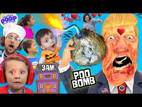 OUR HAUNTED HOUSE w/ ZOMBIE DONALD TRUMP @ 3am! My Soup is BOMB! FGTEEV Halloween Gameplay Skit