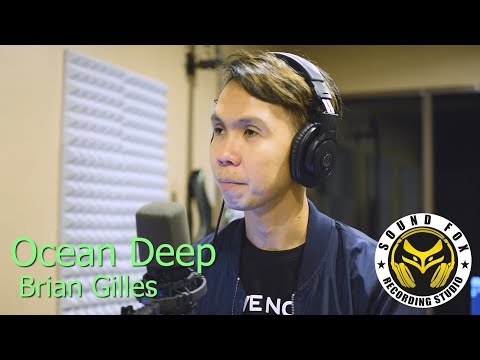 Ocean Deep | Brian Gilles cover with Lyrics