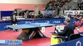 Настольный теннис- Андрианов и Воронова финал Чемпионат России 2008