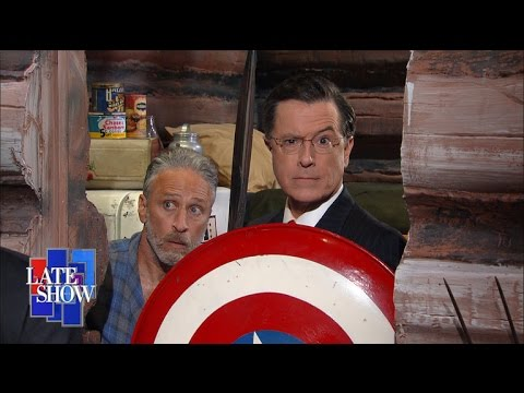 Jon Stewart Helps Stephen Colbert Make Sense of Donald Trump s Political