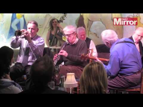 Woody Allen plays with his Jazz band at the Carlyle hotel in New York