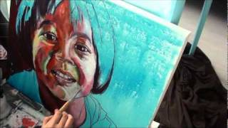 Custom Portrait Painting Acrylic Painting Techniques On Canvas With Artyshils