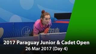 Catch the 2017 ITTF Paraguay Junior & Cadet Open - Day 4 LIVE! Subscribe here for more official Table Tennis highlights: http://bit.ly/ittfchannel. ©ITTF All...