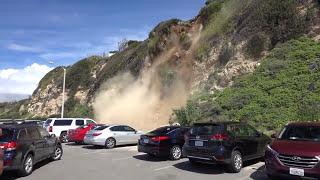 Video Man Captures Mountain Side Collapsing in Malibu MP3, 3GP, MP4, WEBM, AVI, FLV Januari 2019