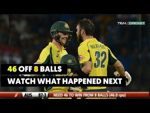 Aus Need 46 OFF 8 Balls  Thrilling Finish in Cricket History   Australia VS Pakistan   Cricket