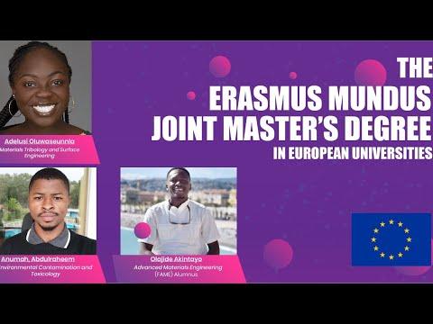 ERASMUS MUNDUS JOINT MASTER'S DEGREE SCHOLARSHIP IN EUROPEAN UNIVERSITIES| EMJMD 2020| FULLY FUNDED