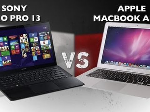 macbook air - http://cnet.co/1cyjswE It's a heavyweight battle between two of the best ultrabooks on the market! Will Sony's Vaio Pro 13 with its all-new design and touch-...