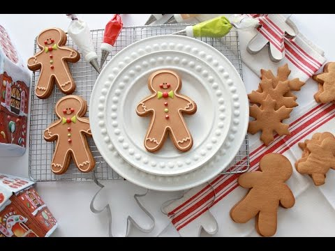 How to Make Gingerbread Dough and Decorate a Gingerbread Man Cookie