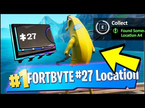 FORTBYTE 27 Location - FOUND SOMEWHERE WITHIN MAP LOCATION A4 (Fortnite)