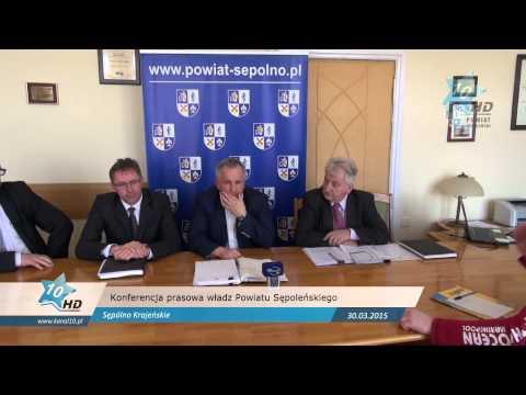 Konferencja prasowa władz Powiatu Sępoleńskiego, 30.03.2015 r.