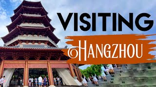 A view of HangZhou 杭州. HangZhou is located in north-western ZheJiang province, at the southern end of the Grand Canal, which runs from BeiJing, in the south-central portion of the YangTze river delta.