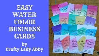 I designed my business cards on http://www.vistaprint.com, which is a site I've used for years. I wanted easily read business cards with lots of info, that could be painted for a more memorable look. So far they've been well received. This video isn't sponsored. Vistaprint is just a good reliable company for ordering business cards. I'm not sure if they still offer free business cards, now that I look at their site, but they do have lots of sales and discounts which make for affordable cards. They also have lots of other personalized business supplies available which are great quality too. SOCIAL MEDIA:Website: http://www.craftyladyabby.comFacebook: https://twitter.com/CraftyLadyAbbyTwitter: https://www.facebook.com/CraftyLadyAbbyPinterest: https://www.pinterest.com/CraftyLadyAbbyInstagram: https://instagram.com/craftyladyabby