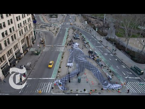 Timelapse A Walker in New York City