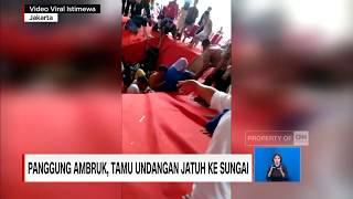 Video Viral! Panggung Ambruk, Tamu Undangan Jatuh ke Sungai MP3, 3GP, MP4, WEBM, AVI, FLV Februari 2019
