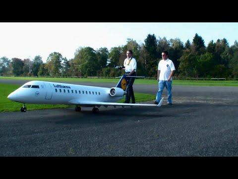 airplane - RC Airliner Bombardier CRJ 200 twin Turbine JetCat P80 Model Airplane Lufthansa, Hausen Flugtag 2014 Pilot: Bäumker Wolfgang von der Luftsport Gruppe Kaisers...