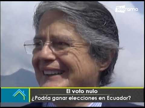 El voto nulo ¿Podría ganar elecciones en Ecuador?