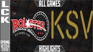 Video KT vs KSV Highlights ALL GAMES | LCK Week 7 Spring 2018 W7D4 | KT Rolster vs KSV Esports Highlights MP3, 3GP, MP4, WEBM, AVI, FLV Juni 2018