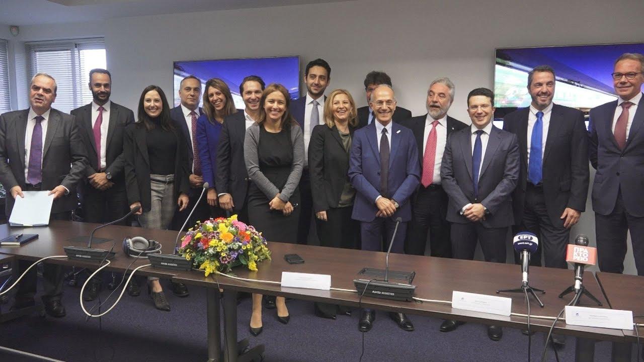 Υπογραφή της σύμβασης πώλησης της ΕΕΣΣΤΥ μεταξύ ΤΑΙΠΕΔ και ΤΡΑΙΝΟΣΕ