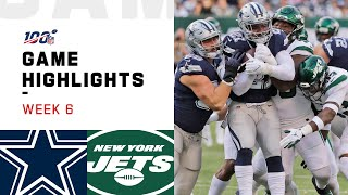 Cowboys vs. Jets Week 6 Highlights   NFL 2019