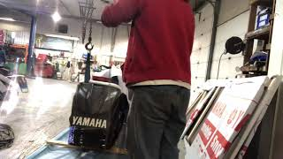 6. Pulling out our last 2019 Yamaha SRX snowmobile that needs to be built 💪�