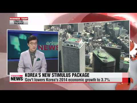 Stimulus - So, the Korean government's stimulus plans unveiled today: Government spending would increase by 11-point-4 billion U.S. dollars and another 28 billion would be available to small- and medium-size...