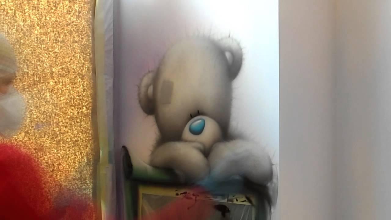 Тедди с графитной доской