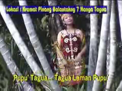 lagu dayak krio tagua,from mateus bujal kure village kalimantan barat