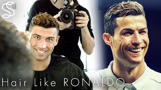 Haircut like Cristiano Ronaldo hair inspiration: In this tutorial we show you how to get hair like the legend Ronaldo ★ Shop online! http://www.SlikhaarShop.com ★Follow, like, share and more: ⇨ Subscribe! http://bit.ly/SlikhaarTV⇨ Snapchat: SlikhaarTV⇨ Facebook: https://www.facebook.com/SlikhaarTVGroup⇨ Instagram: https://www.instagram.com/slikhaartv/⇨ Blog: http://www.slikhaarshop.com/news ⇨ Newsletter: http://eepurl.com/B6MqjHAIRCUT MEASUREMENTSSides: 3-6mmBackhead: 3-6mmFringe / top front: 5cmTop back:  4-5cmPlease let us know what other videos you'd like us to make.PRODUCTS USED☆ By Vilain SKYLINEhttps://www.slikhaarshop.com/catalogsearch/result/?q=skyline☆ By Vilain FREESTYLERhttps://www.slikhaarshop.com/catalogsearch/result/?q=freestyler☆ By Vilain POWERMADEhttps://www.slikhaarshop.com/powermade-pomade/☆ By Vilain DYNAMITE CLAYhttps://www.slikhaarshop.com/by-vilain-dynamite-clay/Music byCaden Jester - Let You Go (feat. https://cadenjester.fanlink.to/let-you-goLocation: Mejlgade 37 - Aarhus,  8000 C - DenmarkHairdresser: Ann-Sofie AxelsenBest regardsEmil & Rasmus Vilain AlbrechtsenSLIKHAAR TV TEAMSend all requests to: info@slikhaarshop.com♥ Slikhaar TV is a hairstyling channel for men founded by the twin brothers Emil & Rasmus. We give you new hairstyle inspiration every week: Tutorials, how-to videos, celebrity and footballer hairstyles, and professional tips to optimize your hair and overall style.