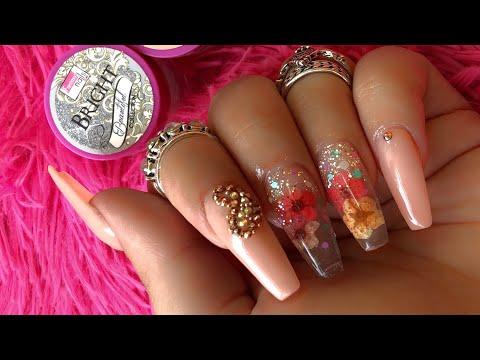 Uñas decoradas - Uñas acrílicas encapsuladas Nails acrylic #naturalezamuerta RETO INSTAGRAM