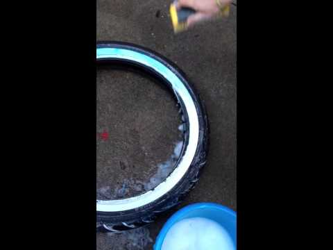How to remove blue film from white wall tires